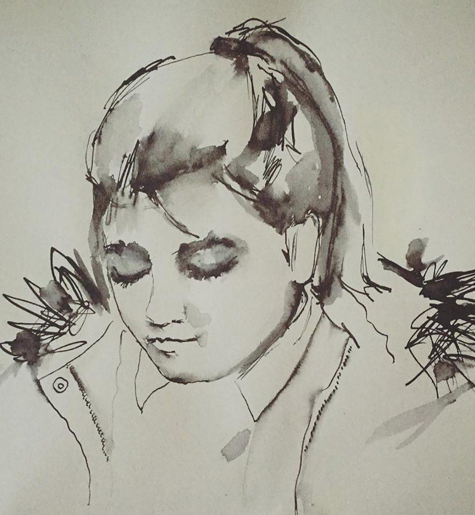 Skye pen & ink